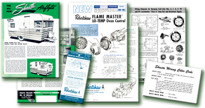1962 Shasta Airflyte Sales Flyer Wiring Documents Amp More